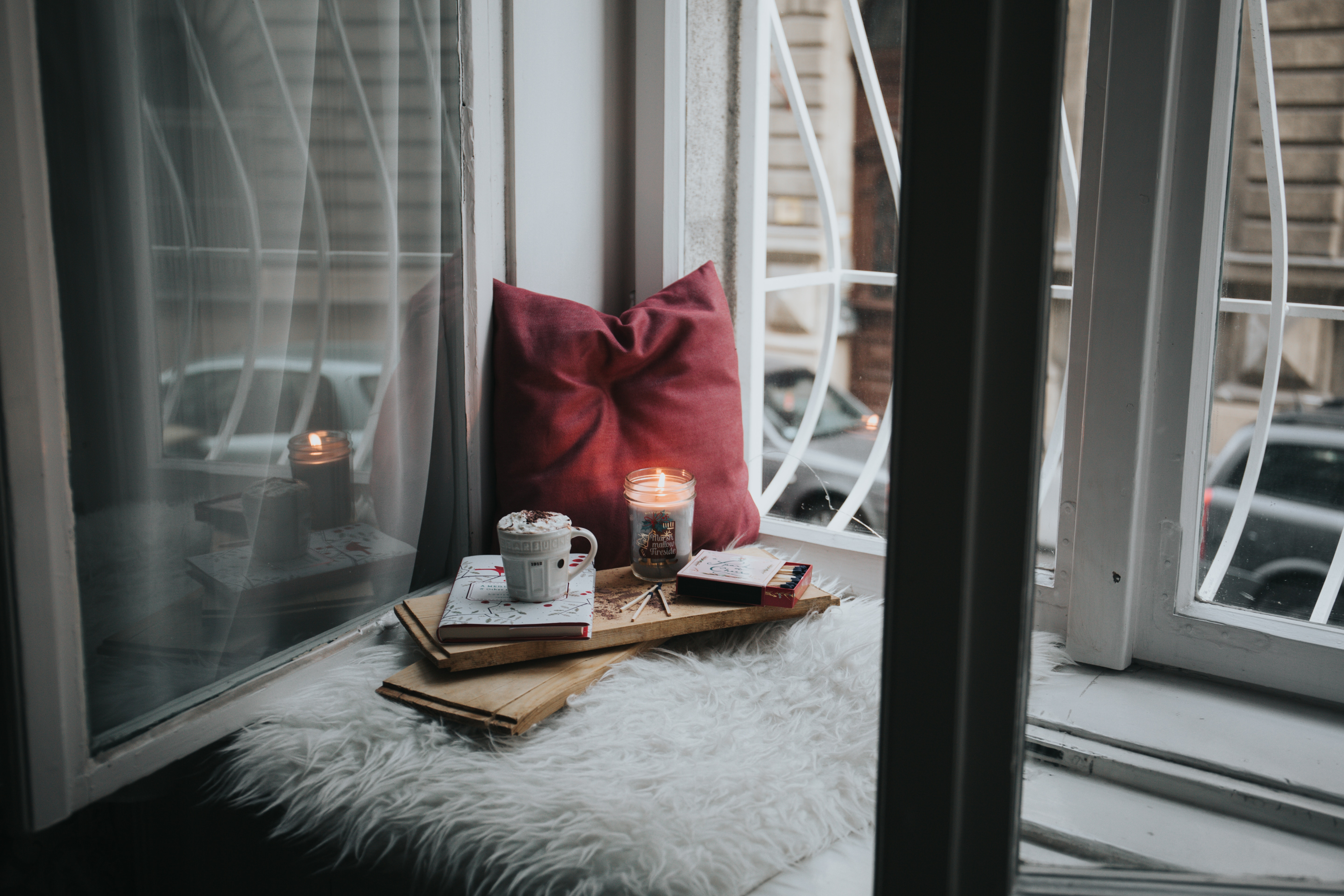 window cup and candle