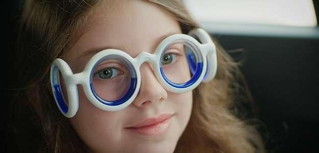 Girl wearing glasses