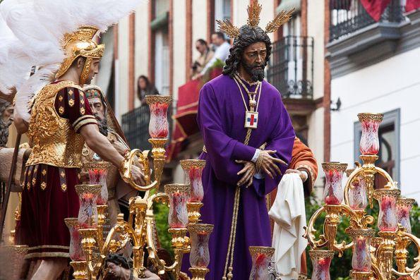 Statue of Jesus in Spanish parade