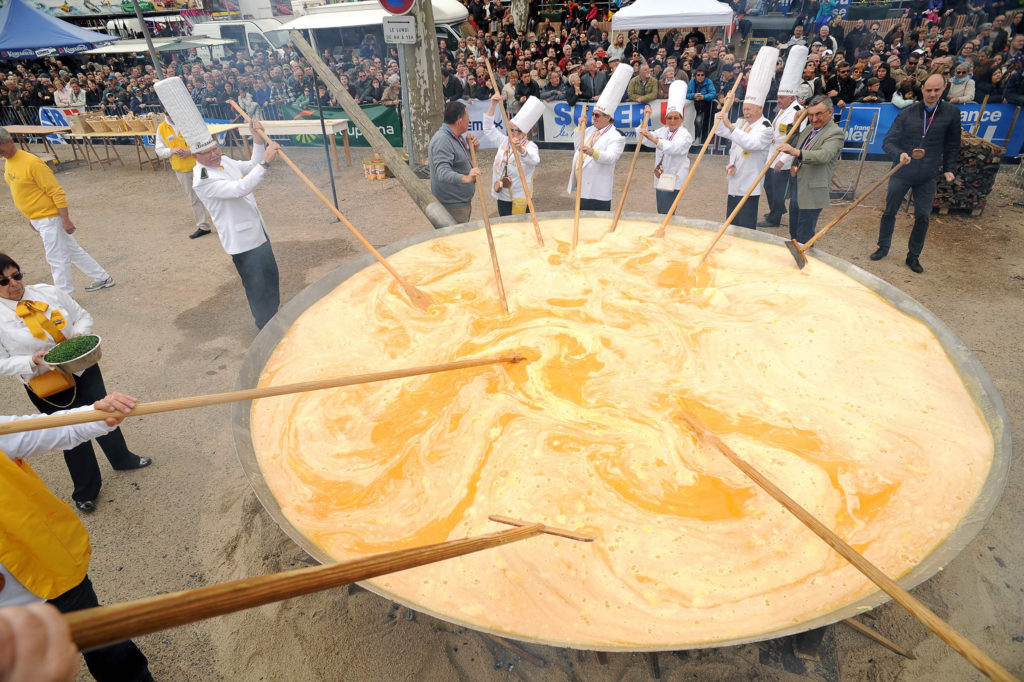 Giant Easter Omelette in France