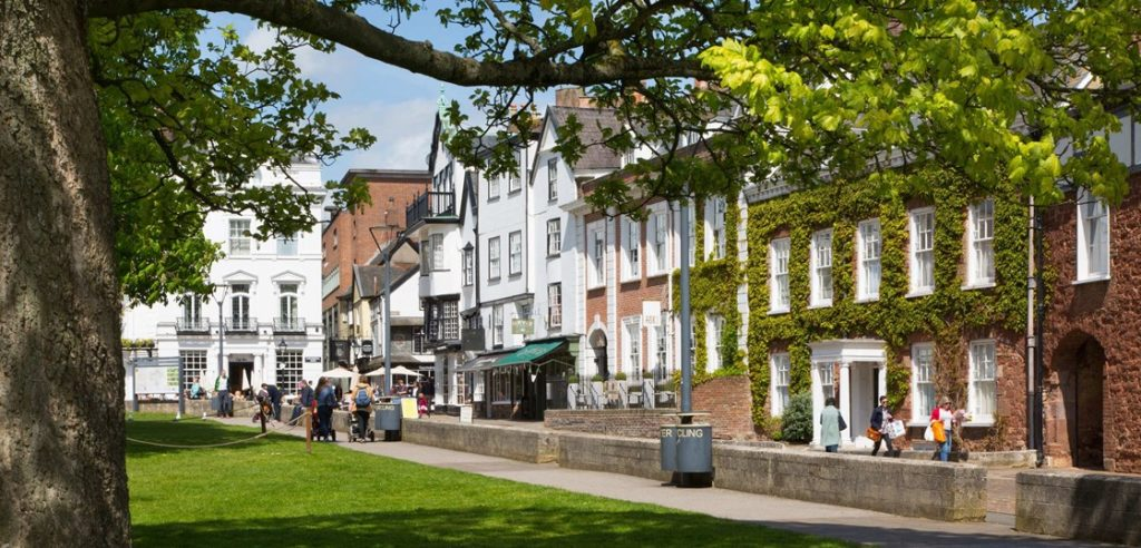 Exeter city centre.