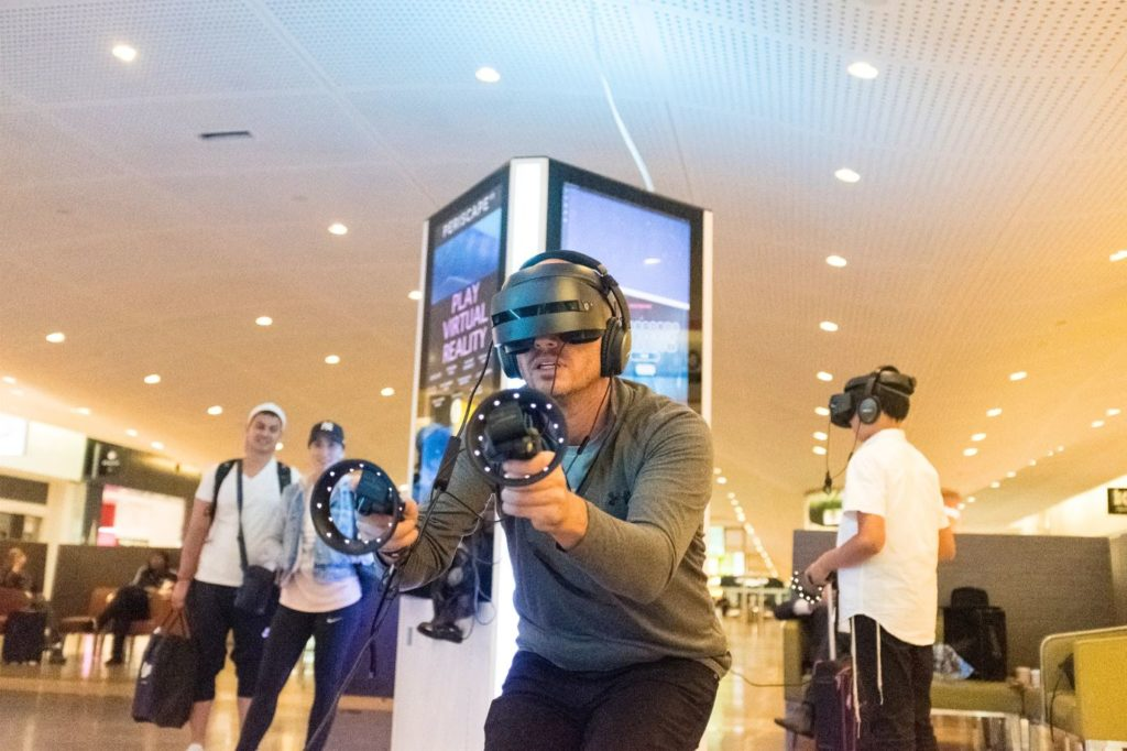 Virtual Reality Experience in airport.