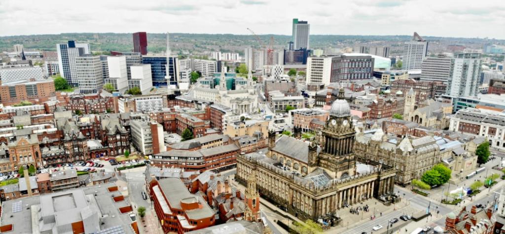 City view of Leeds.