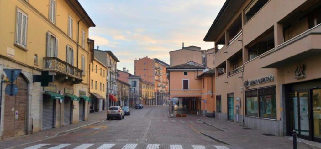 Coronavirus lockdown in Italy.