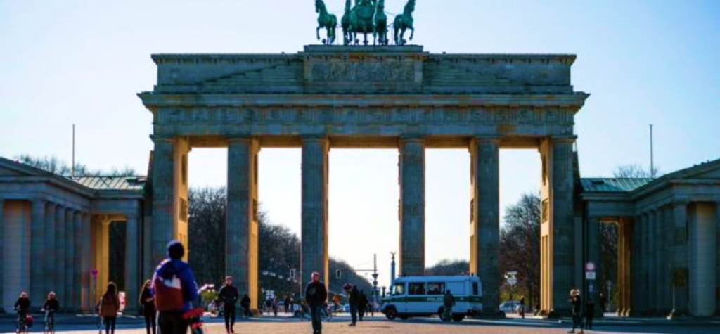 Brandenburg Gate in Berlin.