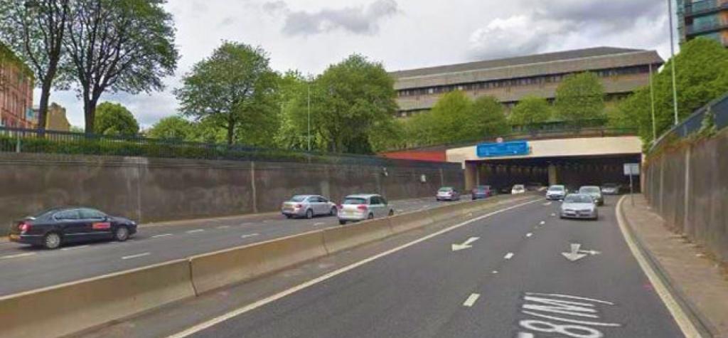 The A58 Motorway in Leeds.