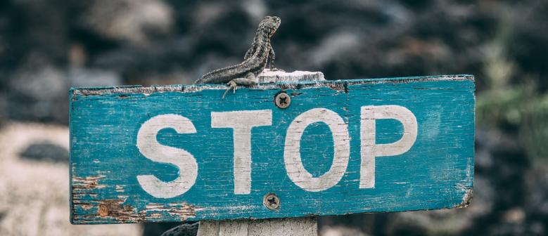 Stop sign - Travel around Europe