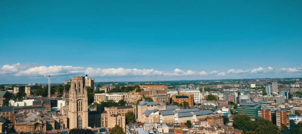 View of the city when moving to Bristol