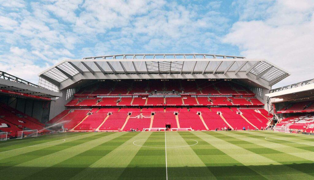 Anfield Football Stadium - home of Liverpool FC