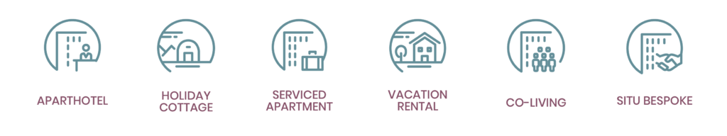 Serviced accommodation names and types